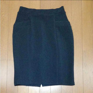 デンドロビウム(DENDROBIUM)のタイトスカート 紺(ひざ丈スカート)