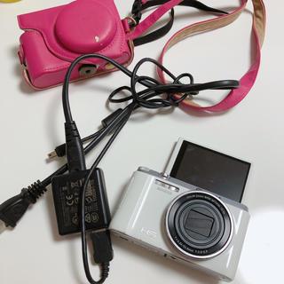 カシオ(CASIO)のCASIO EX-ZR1000 ホワイト デジカメ 自撮り(コンパクトデジタルカメラ)