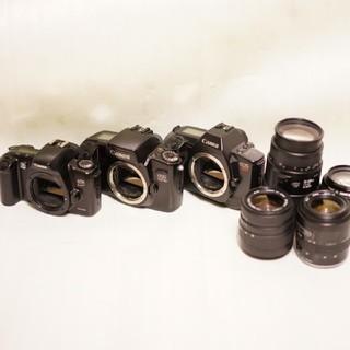 キヤノン(Canon)のCanon EOS 3台、レンズ4本 まとめ売り ジャンク 70-300ほか(レンズ(ズーム))