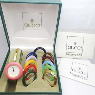 グッチ(Gucci)のGUCCI 腕時計 チェンジベゼル Sサイズ 稼働中 10020(腕時計)