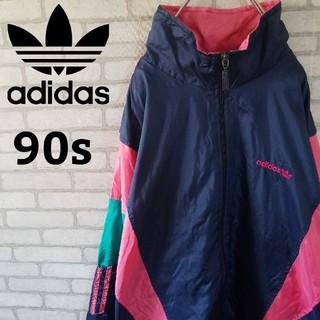 adidas - 春コーデ【90s】アディダス マルチカラー ナイロンジャケット ビックサイズ