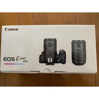 キヤノン(Canon)のCanon EOS KISS X9I ダブルズームキット ブラック  キャノン(デジタル一眼)