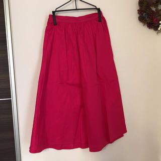 ジーユー(GU)のGU ピンク スカート(ひざ丈スカート)