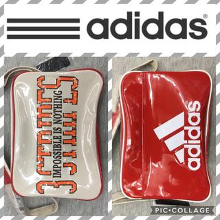 アディダス(adidas)の18Lスカーレットadidasエナメルバッグ(ショルダーバッグ)