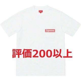 LサイズSupreme Mesh Stripe Pocket Tee White(Tシャツ/カットソー(半袖/袖なし))