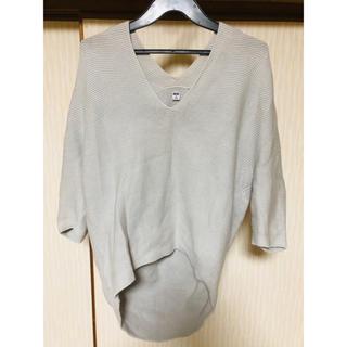 ユニクロ(UNIQLO)のコクーンシルエットVネックセーター(ニット/セーター)