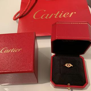 カルティエ(Cartier)の再値下げしました。カルティエ  cハート ピンクサファイア リング 47(リング(指輪))