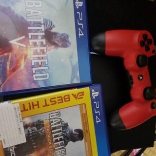 プレイステーション4(PlayStation4)のPS4本体とBF5とBF1(家庭用ゲーム本体)