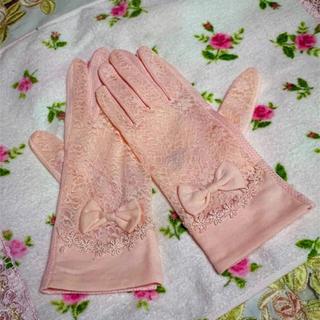 手袋  UVケア  ファッション小物  リボン手袋 レース手袋 新品(手袋)