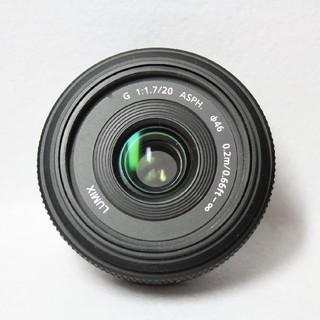 パナソニック(Panasonic)のパナソニック LUMIX 20mm 1.7単焦点レンズ(レンズ(単焦点))