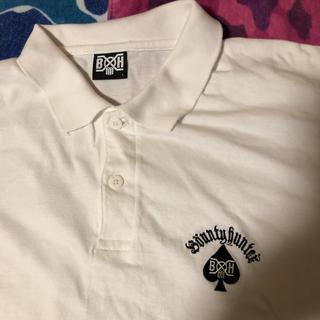 バウンティハンター(BOUNTY HUNTER)のBOUNTYHUNTER ポロシャツ 白L スペード バウンティーハンター(ポロシャツ)