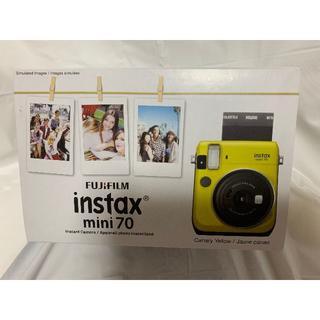 FUJIFILM インスタントカメラ チェキ instax mini イエロー(フィルムカメラ)