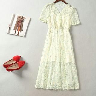 ドレス 長袖 春コーデ 快適 女性 通勤 LL0419079(ロングドレス)