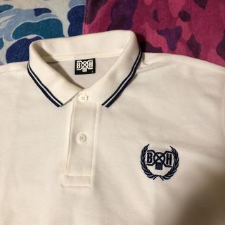 バウンティハンター(BOUNTY HUNTER)のBOUNTYHUNTER ポロシャツ 白紺L バウンティーハンター(ポロシャツ)
