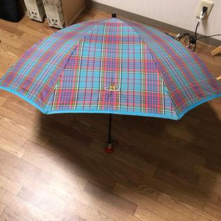 ヴィヴィアンウエストウッド(Vivienne Westwood)の名作  マックマラー タータンチェック  折り畳み傘(傘)