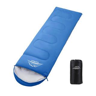 寝袋 封筒型 軽量 保温 210T防水シュラフ コンパクト 1.1kg(寝袋/寝具)