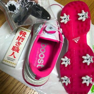 アディダス(adidas)の【美品】ゴルフシューズ【adidas】(シューズ)