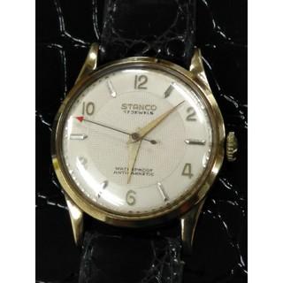 ジラールペルゴ(GIRARD-PERREGAUX)のSTANCOスタンコK18金無垢 金時計 手巻き アンティーク スイス製(腕時計(アナログ))