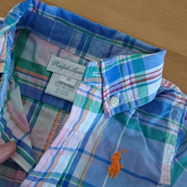 Ralph Lauren(ラルフローレン)のRalphLauren☆ロンパース3M キッズ/ベビー/マタニティのベビー服(~85cm)(ロンパース)の商品写真