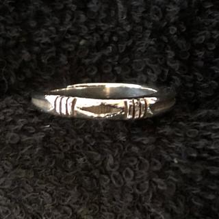 インディアン(Indian)のナバホ族 ジェニファーカーティス スタンプワークリング 12号(リング(指輪))