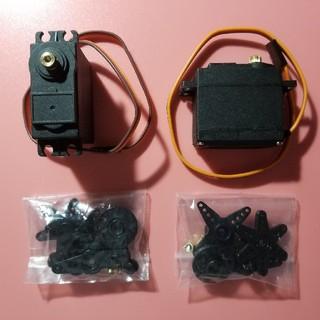 小型強力 サーボモーター 2個 電子工作 RC用(ホビーラジコン)