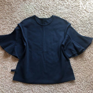 アウィーエフ(AuieF)のイチパーセントの立体感のある袖のカットソー(カットソー(長袖/七分))