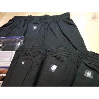 4枚組 Mサイズ メンズ ニットトランクス 黒色 貴重な綿100% 前開き(トランクス)