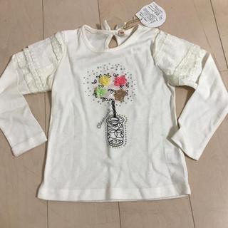 シマムラ(しまむら)の新品♡Angel Love ラインストーン 白 レース ロンT(Tシャツ/カットソー)