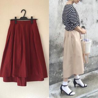 ジーユー(GU)のステップドヘムフレアスカート(ひざ丈スカート)