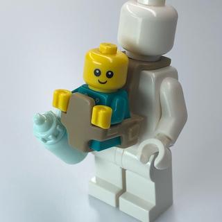 レゴ(Lego)の【新品】LEGO トナカイ柄赤ちゃん1体+哺乳瓶1本(知育玩具)