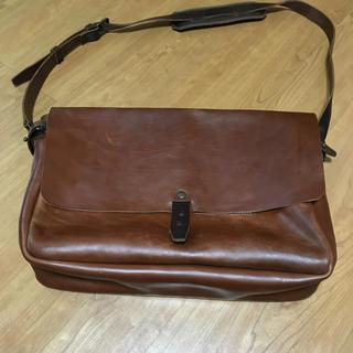 【希少・新品未使用】日本未販売 本革ヴィンテージレザー メッセンジャーバッグ(メッセンジャーバッグ)