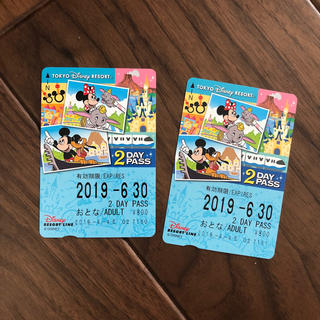 ディズニー(Disney)のディズニーリゾートライン 2day PASS(遊園地/テーマパーク)