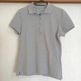 ユニクロ(UNIQLO)のグレー ポロシャツ(ポロシャツ)