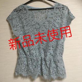 ジーユー(GU)の新品未使用 gu レースプルオーバー(カットソー(半袖/袖なし))