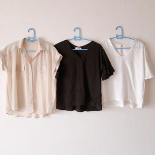 ジーユー(GU)の[お得]トップス ファッション シャツ 着痩せ Tシャツ(シャツ/ブラウス(半袖/袖なし))