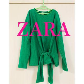 ザラ(ZARA)のZARA グリーンカットソー(カットソー(長袖/七分))