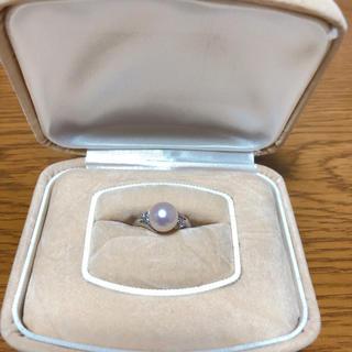 本真珠メルダイヤプラチナリング(リング(指輪))