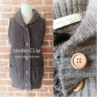 スタディオクリップ(STUDIO CLIP)のstudio CLip*スタディオクリップ【美品】ニットベスト(ベスト/ジレ)