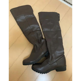 ロングブーツ 焦げ茶 23.5cm程度(ブーツ)