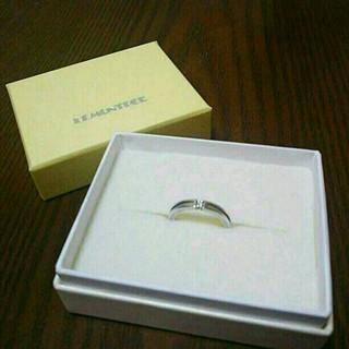 シンプルダイヤ一粒付きリング 6号(リング(指輪))