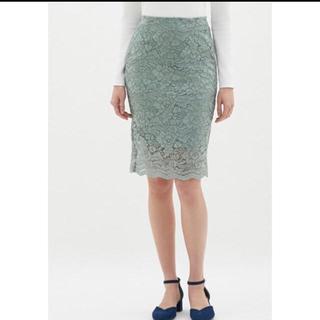 ジーユー(GU)の美品♡guレーススカート(ひざ丈スカート)