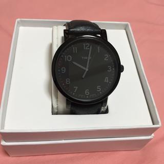 タイメックス(TIMEX)のTIMEX ブラック 腕時計(腕時計(アナログ))
