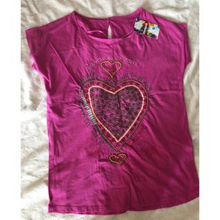 デシグアル(DESIGUAL)のデシグアル ピンク ハート(Tシャツ(半袖/袖なし))