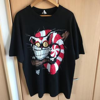 サンタモニカ(Santa Monica)の激レア 90s USA製 ANDAZIA チェシャ猫 不思議の国のアリス(Tシャツ/カットソー(半袖/袖なし))