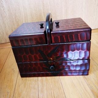 鎌倉蘭彫ソーイングボックス(小物入れ)