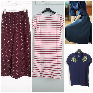 ジーユー(GU)の2018GU&ユニクロ♡ワンピ&Tシャツ&スカート&ワイドパンツ4点(ロングスカート)