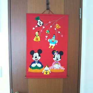 ディズニー(Disney)のディズニー お正月飾り タペストリー(インテリア雑貨)