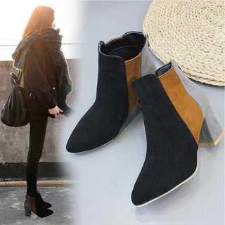 ショート ブーツ レディース ブーティー 靴 ヒール 歩きやすい 美脚(ブーツ)