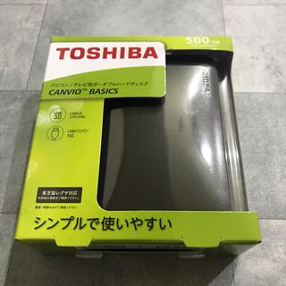 東芝 - 東芝 USB3.0接続 ポータブルハードディスク 500GB