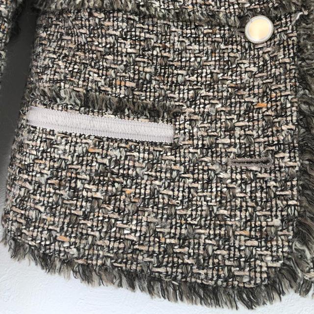 Noble(ノーブル)の美品ノーカラーツイードジャケット レディースのジャケット/アウター(ノーカラージャケット)の商品写真